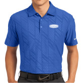 Nike Dri Fit Royal Embossed Polo-Cragar
