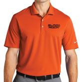 Nike Golf Dri Fit Orange Micro Pique Polo-Black Rock