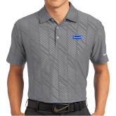 Nike Dri Fit Charcoal Embossed Polo-Cragar