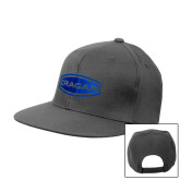 Charcoal Flat Bill Snapback Hat-Cragar
