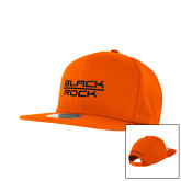 New Era Orange Diamond Era 9Fifty Snapback Hat-Black Rock
