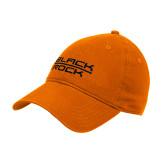 Orange Twill Unstructured Low Profile Hat-Black Rock
