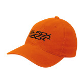 Orange Flexfit Mid Profile Hat-Black Rock