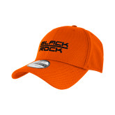New Era Orange Diamond Era 39Thirty Stretch Fit Hat-Black Rock Puff