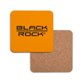 Hardboard Coaster w/Cork Backing-Black Rock