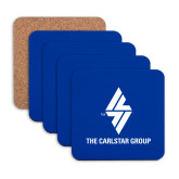 Hardboard Coaster w/Cork Backing 4/set-The Carlstar Group