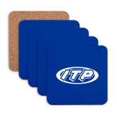 Hardboard Coaster w/Cork Backing 4/set-ITP