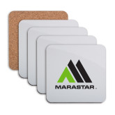 Hardboard Coaster w/Cork Backing 4/set-Marastar