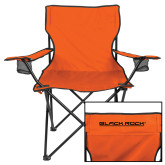 Deluxe Orange Captains Chair-Black Rock Wordmark
