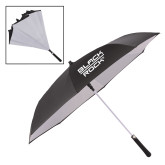 48 Inch Auto Open Black/White Inversion Umbrella-Black Rock