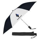 42 Inch Slim Stick Black/White Vented Umbrella-The Carlstar Group