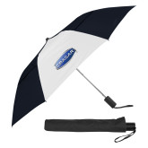 42 Inch Slim Stick Black/White Vented Umbrella-Cragar