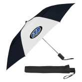 42 Inch Slim Stick Black/White Vented Umbrella-ITP