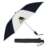 42 Inch Slim Stick Black/White Vented Umbrella-Marastar