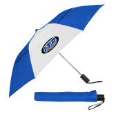 42 Inch Slim Stick Royal/White Vented Umbrella-ITP