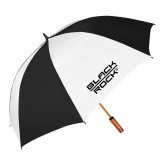 62 Inch Black/White Vented Umbrella-Black Rock