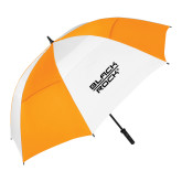 62 Inch Orange/White Vented Umbrella-Black Rock