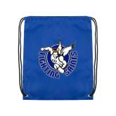 Royal Drawstring Backpack-Fighting Saints