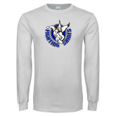 White Long Sleeve T Shirt-Fighting Saints