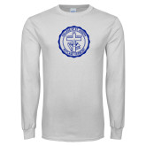 White Long Sleeve T Shirt-College Seal