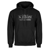 Black Fleece Hoodie-College of St. Joseph with Slogan