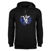 Black Fleece Full Zip Hoodie-Fighting Saints
