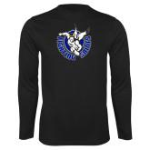Performance Black Longsleeve Shirt-Fighting Saints