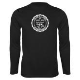 Performance Black Longsleeve Shirt-College Seal