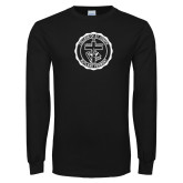 Black Long Sleeve T Shirt-College Seal