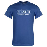 Royal T Shirt-College of St. Joseph with Slogan