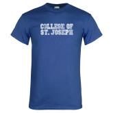 Royal T Shirt-College of St. Joseph Distressed