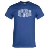 Royal T Shirt-College of St. Joseph Bulge Distressed