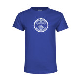 Youth Royal T Shirt-College Seal
