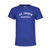 Youth Royal T Shirt-St. Joseph Basketball