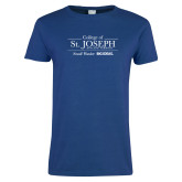 Ladies Royal T Shirt-College of St. Joseph with Slogan