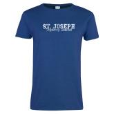 Ladies Royal T Shirt-St. Joseph Fighting Saints Distressed