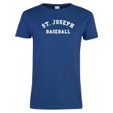 Ladies Royal T Shirt-St. Joseph Baseball