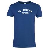Ladies Royal T Shirt-St. Joseph Soccer