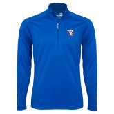 Syntrel Royal Blue Interlock 1/4 Zip-Fighting Saints