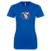 Next Level Ladies SoftStyle Junior Fitted Royal Tee-Fighting Saints