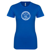 Next Level Ladies SoftStyle Junior Fitted Royal Tee-College Seal