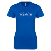 Next Level Ladies SoftStyle Junior Fitted Royal Tee-College of St. Joseph
