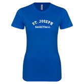 Next Level Ladies SoftStyle Junior Fitted Royal Tee-St. Joseph Basketball