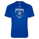 Under Armour Royal Tech Tee-Softball