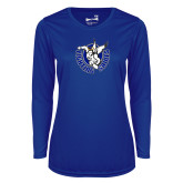 Ladies Syntrel Performance Royal Longsleeve Shirt-Fighting Saints