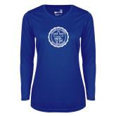 Ladies Syntrel Performance Royal Longsleeve Shirt-College Seal