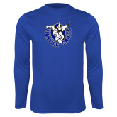 Performance Royal Longsleeve Shirt-Fighting Saints