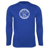 Performance Royal Longsleeve Shirt-College Seal