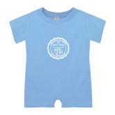Light Blue Infant Romper-College Seal