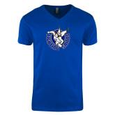 Next Level V Neck Royal T Shirt-Fighting Saints